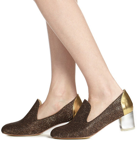 Carrington Low Heel Loafer in Bronze by Arden Wohl (FS)