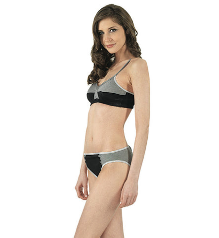 Changeling Organic Keyhole Panty in Black & Gray by Brook There (FS)