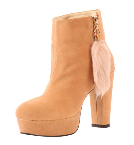 Ditta Boot in Beige by Cri de Coeur