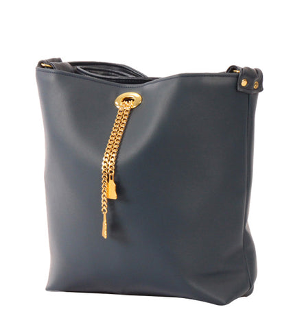Drayton Chain Tote in Navy