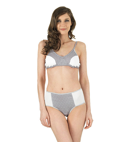 Elemental Bra in White and Polka Dot by Brook There (FS)