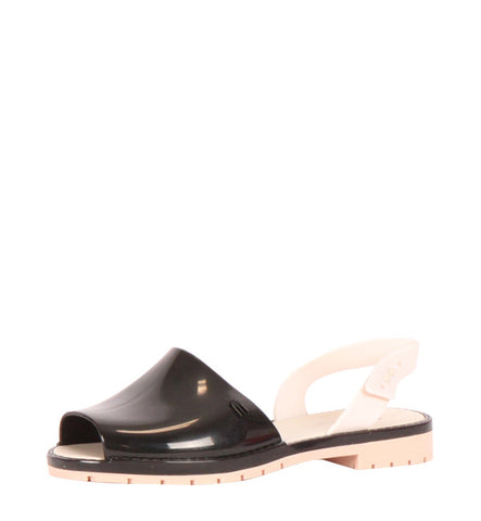 Espardena Sandal in Black & Cream by Melissa