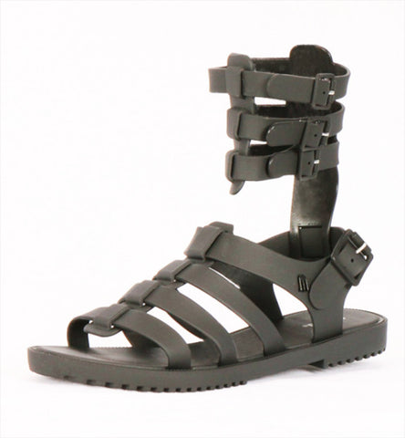 Flox Gladiator Sandal in Black by Melissa