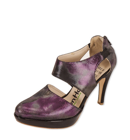 Gladiator Heel in Magenta by Olsenhaus