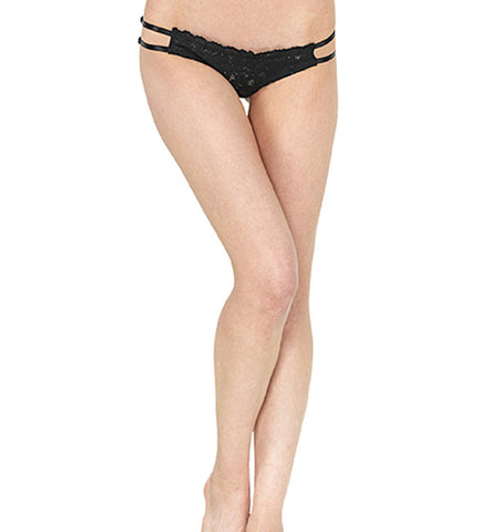 Inquietude Strappy Panty in Black by Clare Bare (FS)