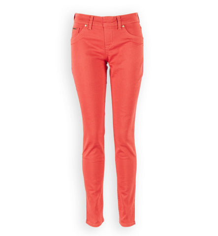 Kelly Pull-On Skinnies in Coral by Beija-Flor
