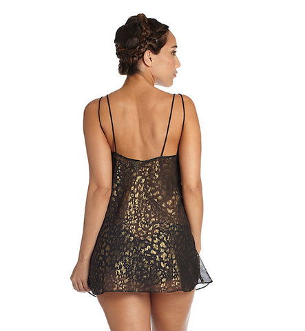 Leopard Play Babydoll in Black by Between the Sheets (FS)