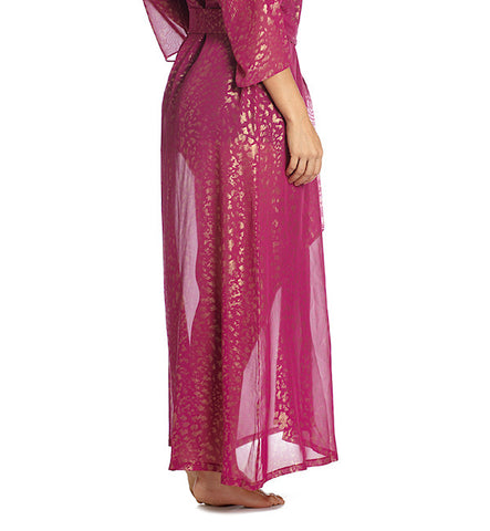 Leopard Play Robe in Raspberry by Between the Sheets (FS)