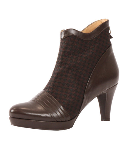 Lindsay Bootie in Houndstooth by Bourgeois Boheme