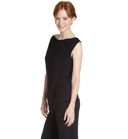 Matchplay Cowl Lounge Tank in Black by Between the Sheets (FS)