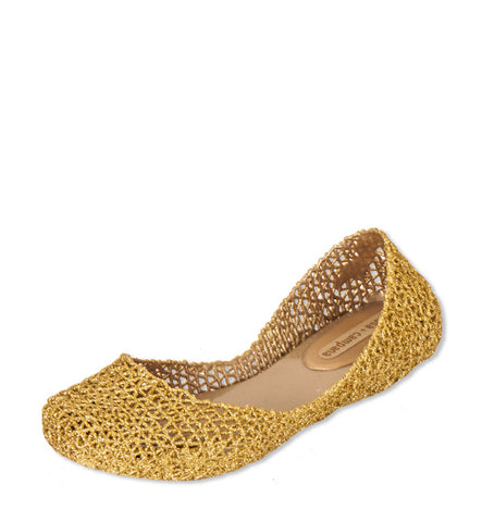 Campana Papel Flat in Yellow Gold by Melissa