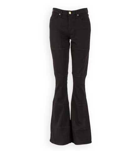Mission Hipster Flared Jeans in Black by Sonas