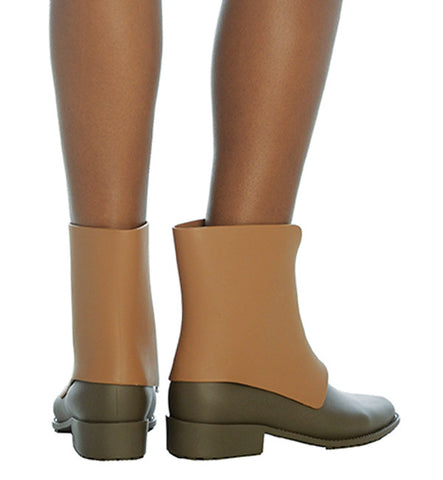 Necklace Boot in Tan and Taupe by Melissa (FS)