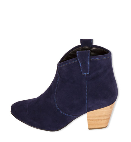 Ninette Bootie in Navy by Cri de Coeur