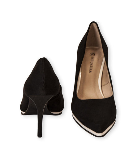 Nira High Heel Pump in Black by Neuaura