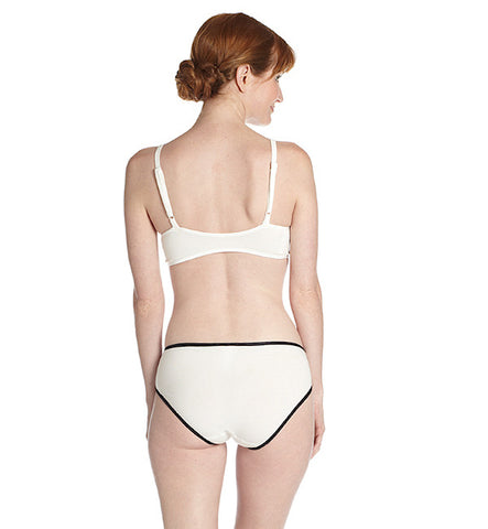 Organic Basics Hipster Panty in White & Black by Brook There (FS)