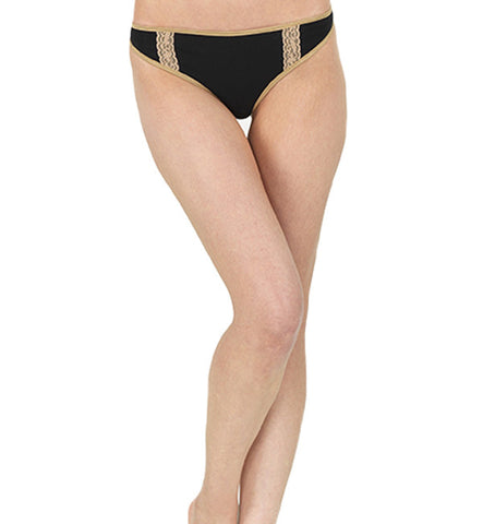 Organic Basics Thong Panty in Black by Brook There (FS)
