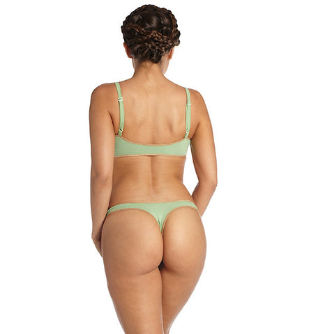 Organic Basics Thong Panty in Green by Brook There (FS)