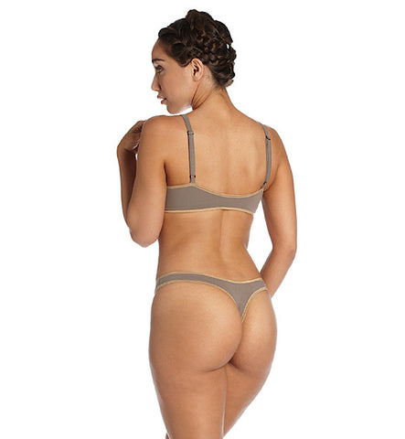 Organic Basics Thong Panty in Taupe by Brook There (FS)