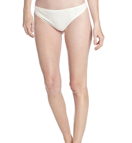 Organic Basics Thong Panty in White by Brook There (FS)