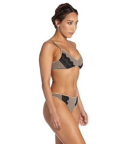 Organic Basics Triangle Bra in Taupe (FS)