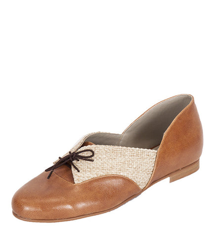 Hibiscus Flat in Caramel & Straw by Roni Kantor