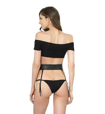 Surrender Crop Top in Black by Clare Bare (FS)