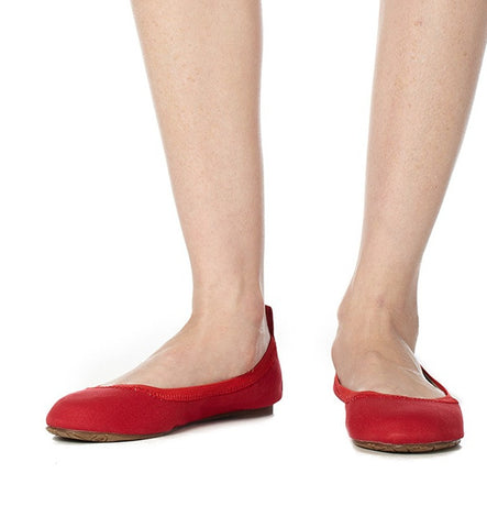 Temba Ballet Flat in Red by Reneu (FS)