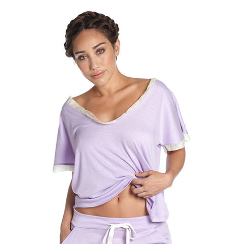 Venus in Play Tee in Lilac by Between the Sheets (FS)