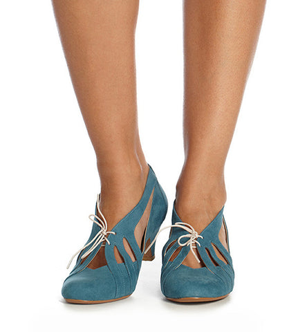 Vine Low Heel in Blue by Roni Kantor