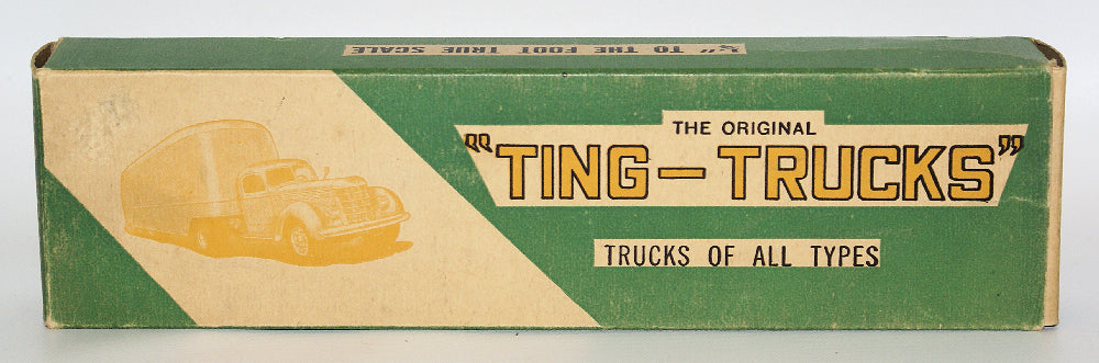 ULTRA RARE 1930's TING-TRUCKS 2-Ton Delivery Truck Balsa Wood Model Kit - Continental Hobby House