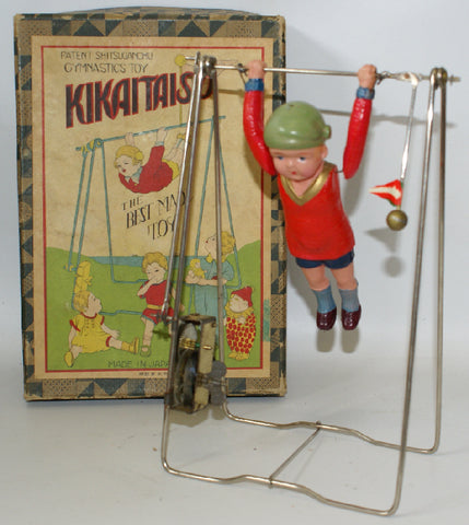 Vintage Pre-War Japan KIKAITAISO Clockwork Wind-up Celluloid Acrobat Boy Gymnist