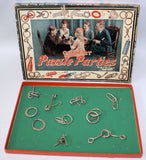 Vintage 1921 A.C. GILBERT PUZZLE PARTIES Playset in Original Box, family fun! - Continental Hobby House