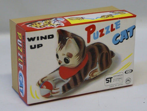 Reproduction [ BOX ONLY ] for Vintage Wind-up Tin Lithographed Puzzle Cat Toy