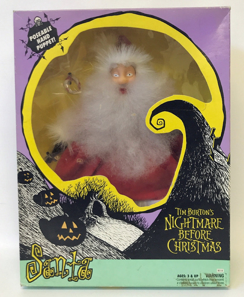 Vintage 1993 Tim Burton's NIGHTMARE BEFORE CHRISTMAS Santa Hand Puppet SEALED! - Continental Hobby House
