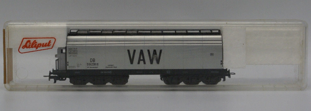 Vintage LILIPUT Train HO Scale #240 VAW DB Freight Car Wagon with Brakehouse - Continental Hobby House