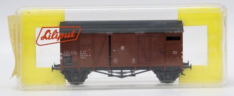 Vintage LILIPUT Train HO Scale #253 U Closed Box DB Freight Car