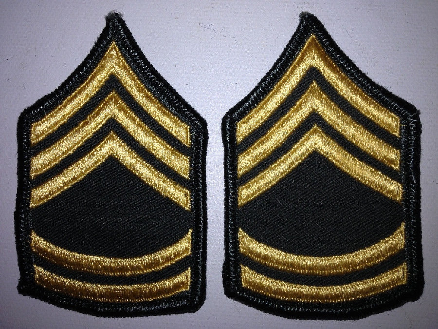 2 Patches Military US Army SFC (E-7) Rank Insignia Women's Dress Uniform Chevron - Continental Hobby House