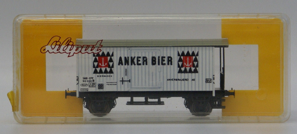 Vintage LILIPUT Train HO Scale Anker Bier Beer Freight Car SBB CFF Swiss Railway - Continental Hobby House