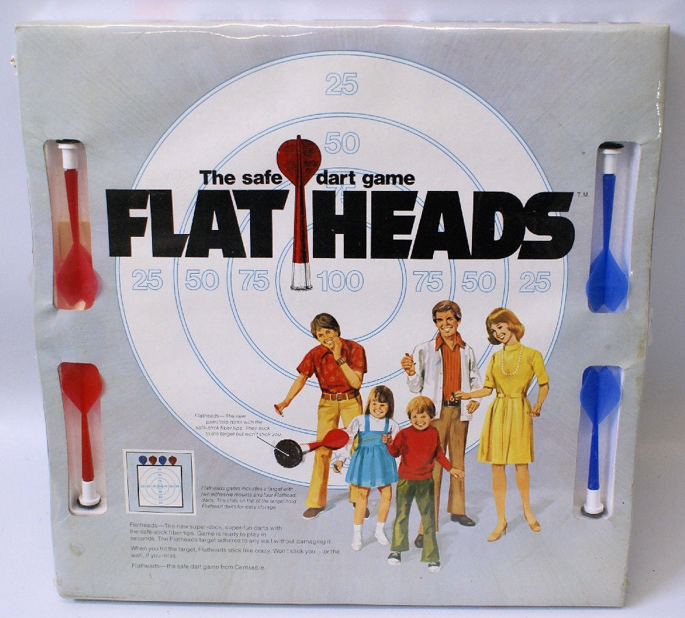 Vintage 1975 FLATHEADS The Safe Dart Board Game Set, SEALED Packaging!! - Continental Hobby House