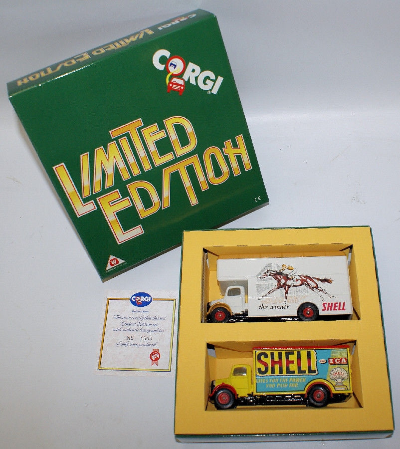 Vintage CORGI D17/1 Limited Edition 'SHELL 1950-60' Delivery Truck Boxed Set - Continental Hobby House