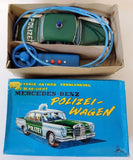 1960's SS Japan Tin Remote Controlled Mercedes-Benz Polizei Wagen Toy Police Car - Continental Hobby House