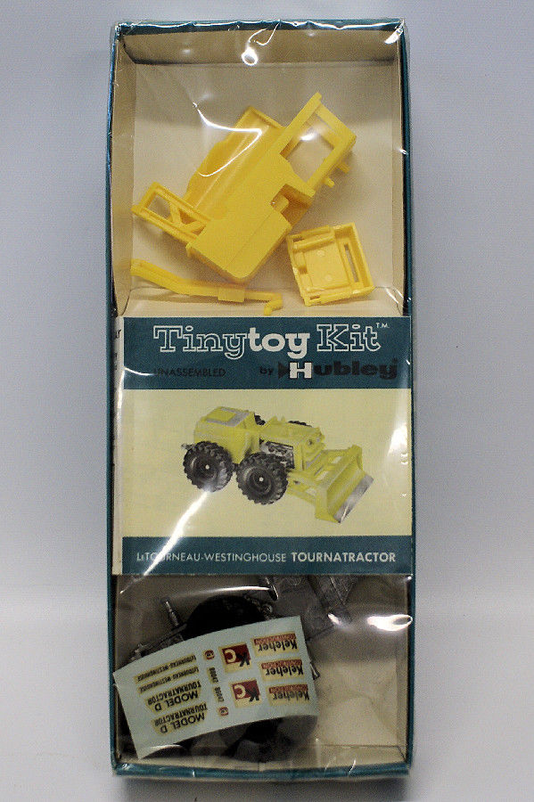 ULTRA RARE Vintage 1962 HUBLEY 'TINY TOY' TOURNATRACTOR Tractor Model Kit SEALED - Continental Hobby House