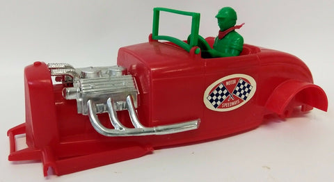 Vintage 1950-60's HERKIMER 'Motor Speedways' Red Hot Rod OK Cub Tether Car Body