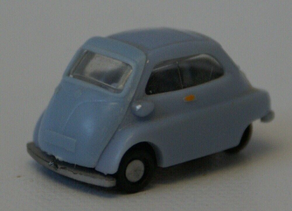 Vintage HO 1:87 Lt. Blue BMW ISETTA by IMU / Modellauto (W. Germany) Toy Car - Continental Hobby House