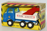 Vintage 1975 RUFF-TUFF Truck 24 hr. Service Tow Wrecking Truck Toy #M140 - Continental Hobby House