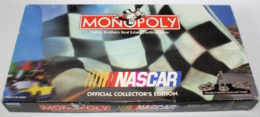 Vintage 1997 NASCAR MONOPOLY, Official Collectors Edition with Pewter Tokens - Continental Hobby House