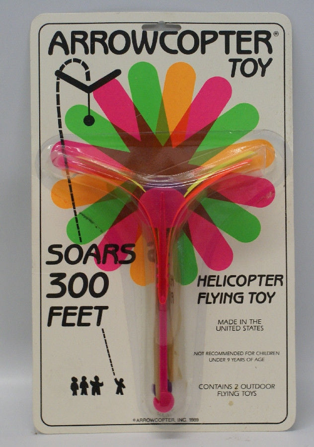 Vintage 1989 ARROWCOPTER Toy Flying Helicopter, Sealed in Packaging! - Continental Hobby House