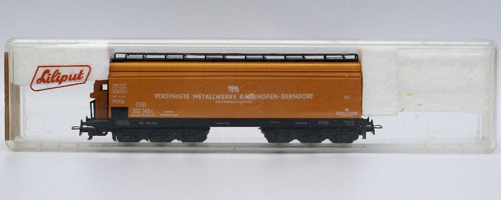 Vintage LILIPUT Train HO #239 O Metal Transport Vereinigte Freight Car Wagon - Continental Hobby House