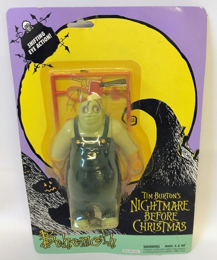 Vintage 1993 NIGHTMARE BEFORE CHRISTMAS 'Behemoth' Action Figure 80106, SEALED, - Continental Hobby House